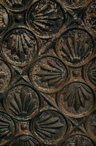 cast iron trefoil fireback