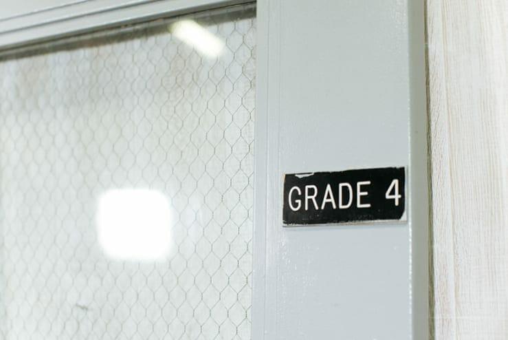 steel classroom door