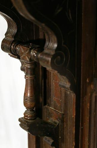 vintage eastlake-style mantle