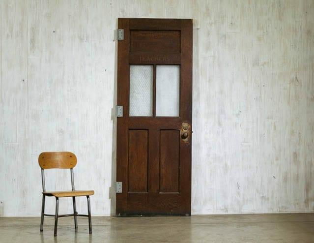 vintage schoolhouse door
