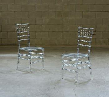 vintage acrylic bamboo chair