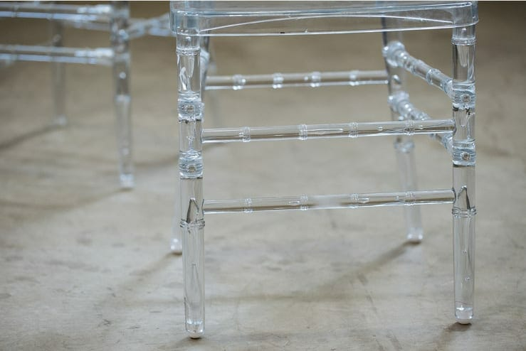 vintage acrylic bamboo chair