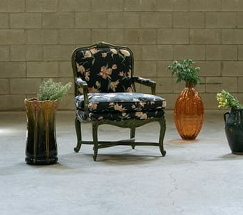 french vintage floral armchair