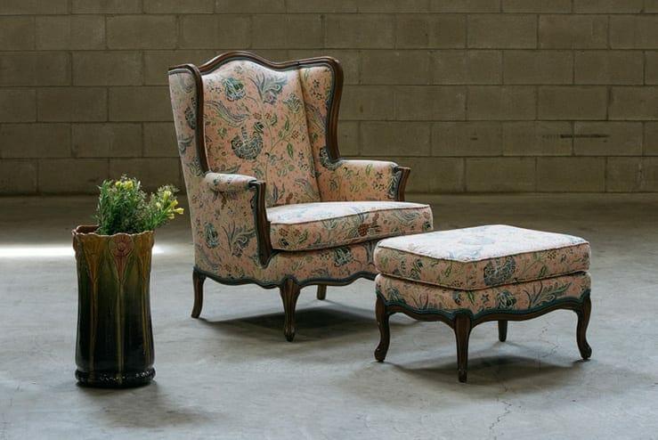 vintage floral armchair