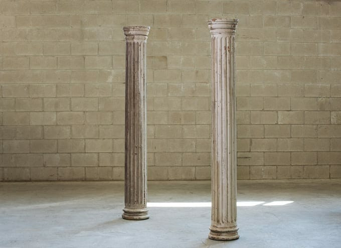 fluted wood columns