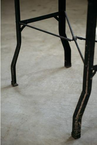 vintage industrial steel folding work table