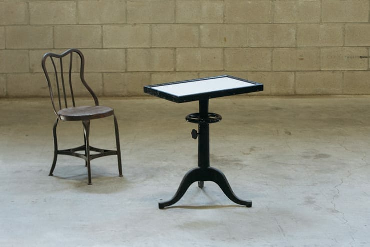 Bausch & Lomb optometry examination side table