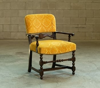 vintage gold brocade chair