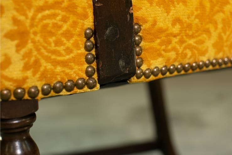 vintage gold brocade chair