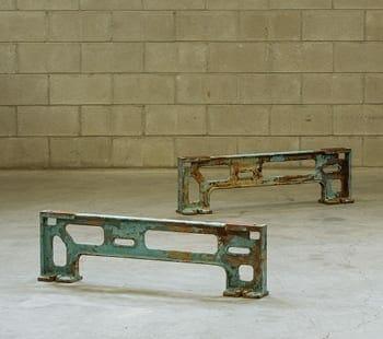 cast iron industrial machine base