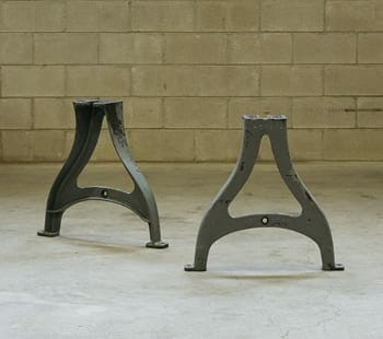 cast iron industrial table legs