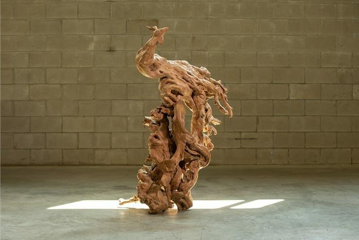 vintage rooster sculpture