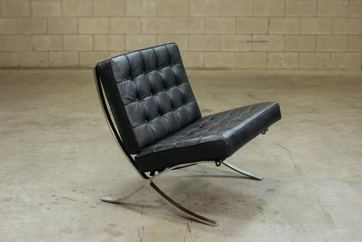 midcentury modern barcelona chair