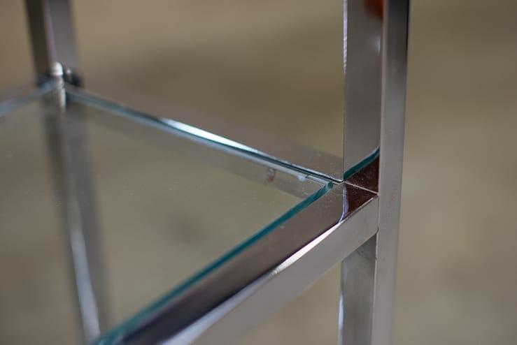 midcentury chrome etagere