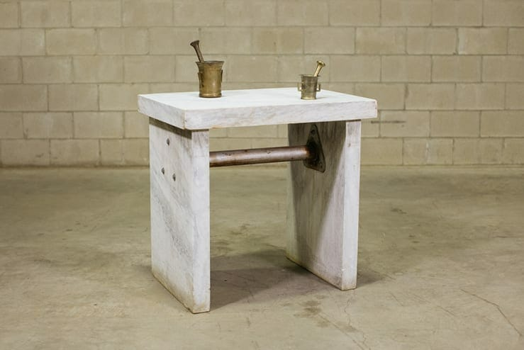 marble lab table