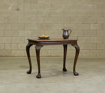 oak chippendale table