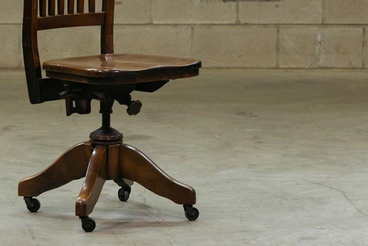 walnut office chair