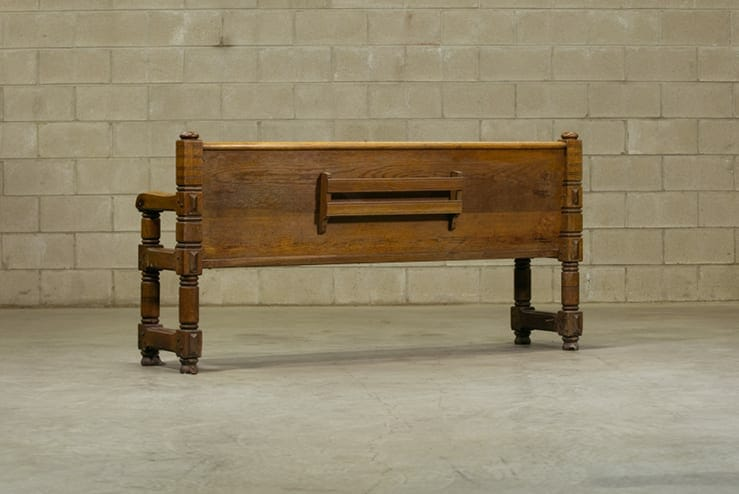 vintage church bench