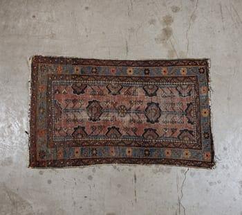 vintage persian throw rug