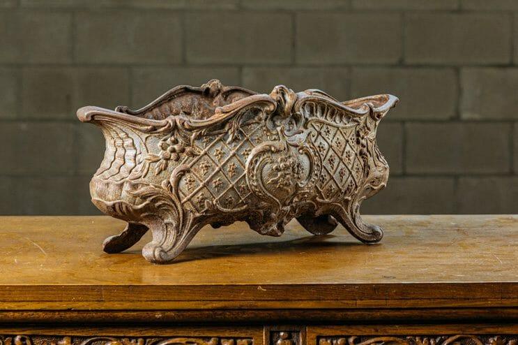 vintage cast iron planter