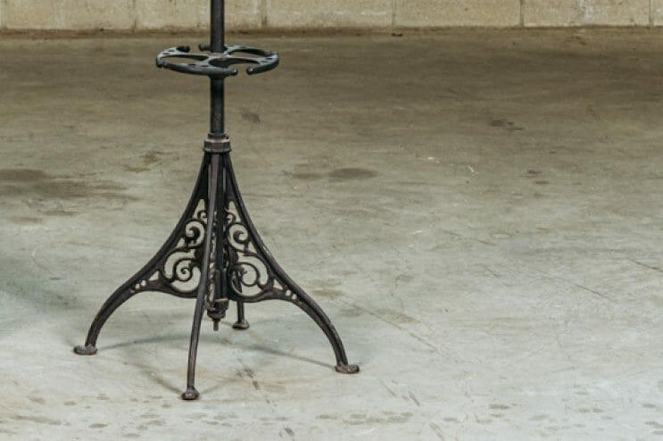 antique iron coat rack