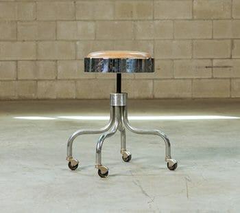 vintage medical stool