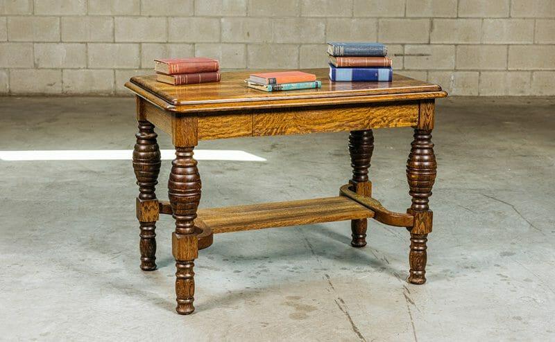 quartersawn oak library table